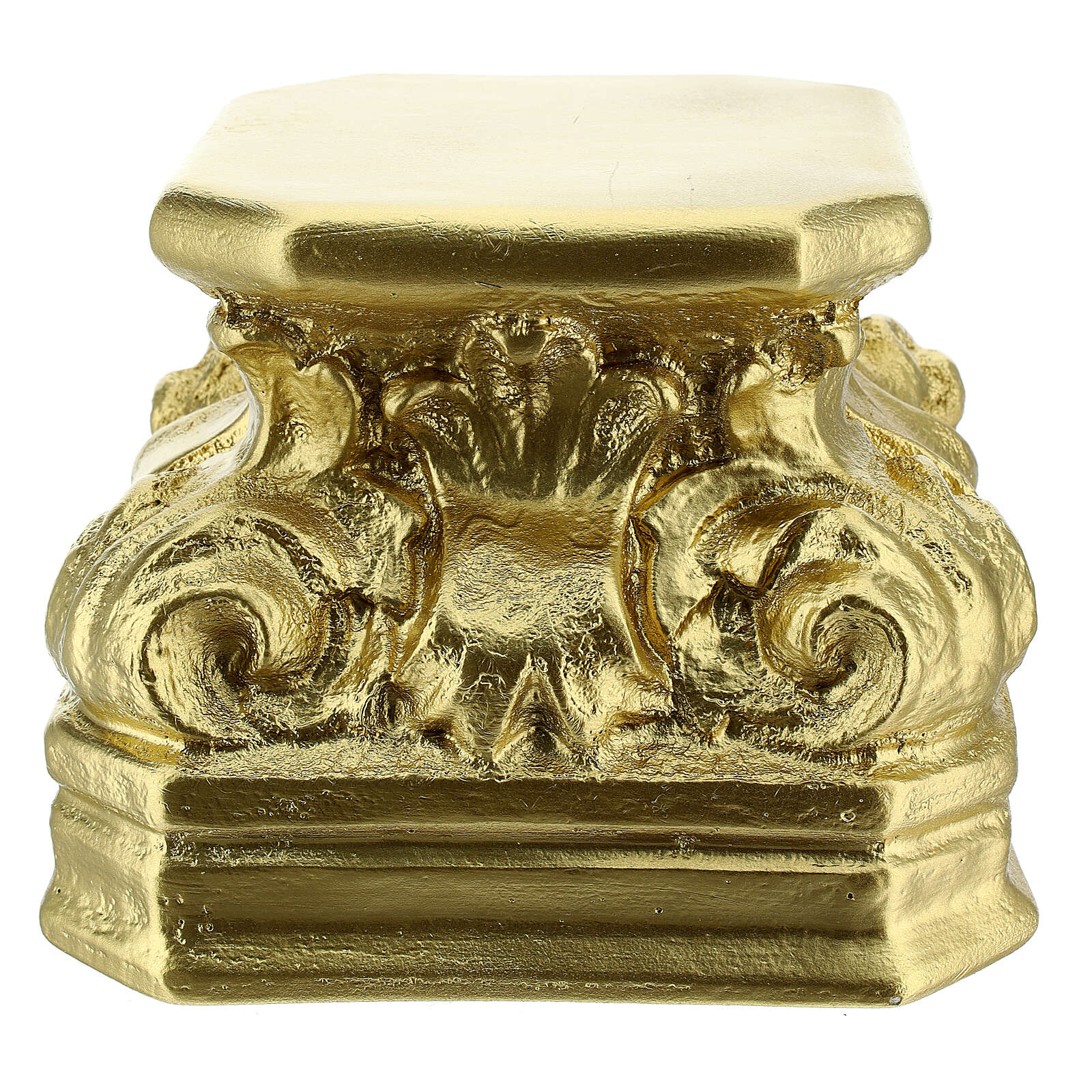 Golden plaster statue base 5 1/2x5 1/2x5 1/2 in Arte Barsanti 4
