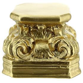Golden plaster statue base 5 1/2x5 1/2x5 1/2 in Arte Barsanti s1