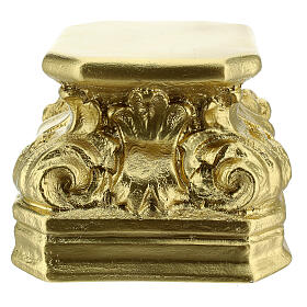 Golden plaster statue base 5 1/2x5 1/2x5 1/2 in Arte Barsanti s3