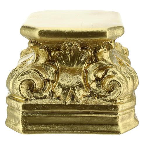 Golden plaster statue base 5 1/2x5 1/2x5 1/2 in Arte Barsanti 3