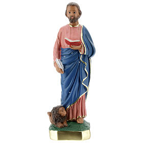St. Mark plaster statue 30 cm hand painted Arte Barsanti s1