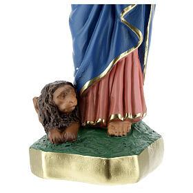 Saint Marc statue plâtre 30 cm peinte main Arte Barsanti s4