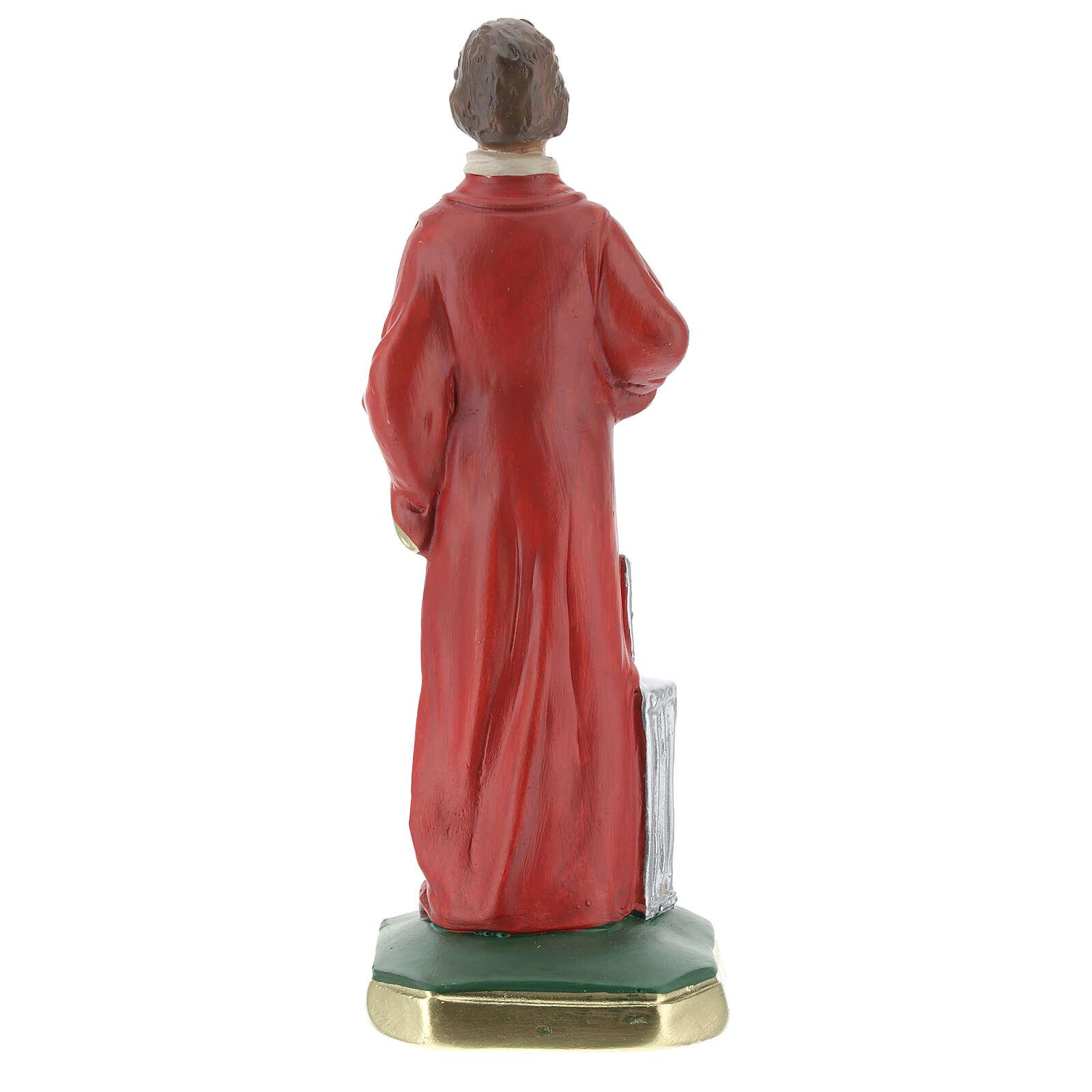 Saint Laurent statue plâtre 20 cm peinte main Arte Barsanti 4