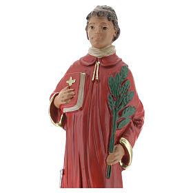 Saint Laurent statue plâtre 20 cm peinte main Arte Barsanti s2