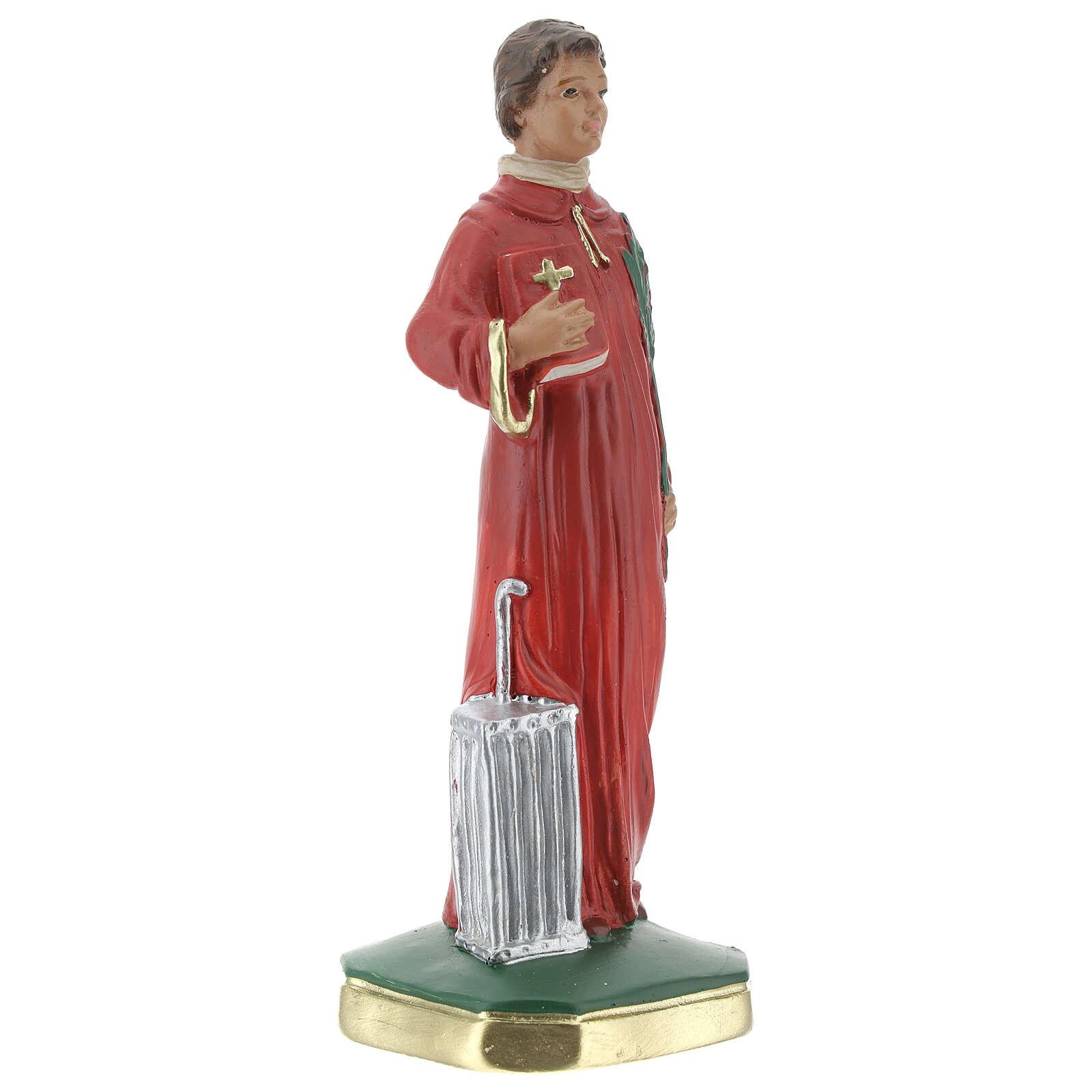 Saint Lawrence statue, 20 cm hand painted plaster Arte Barsanti 4