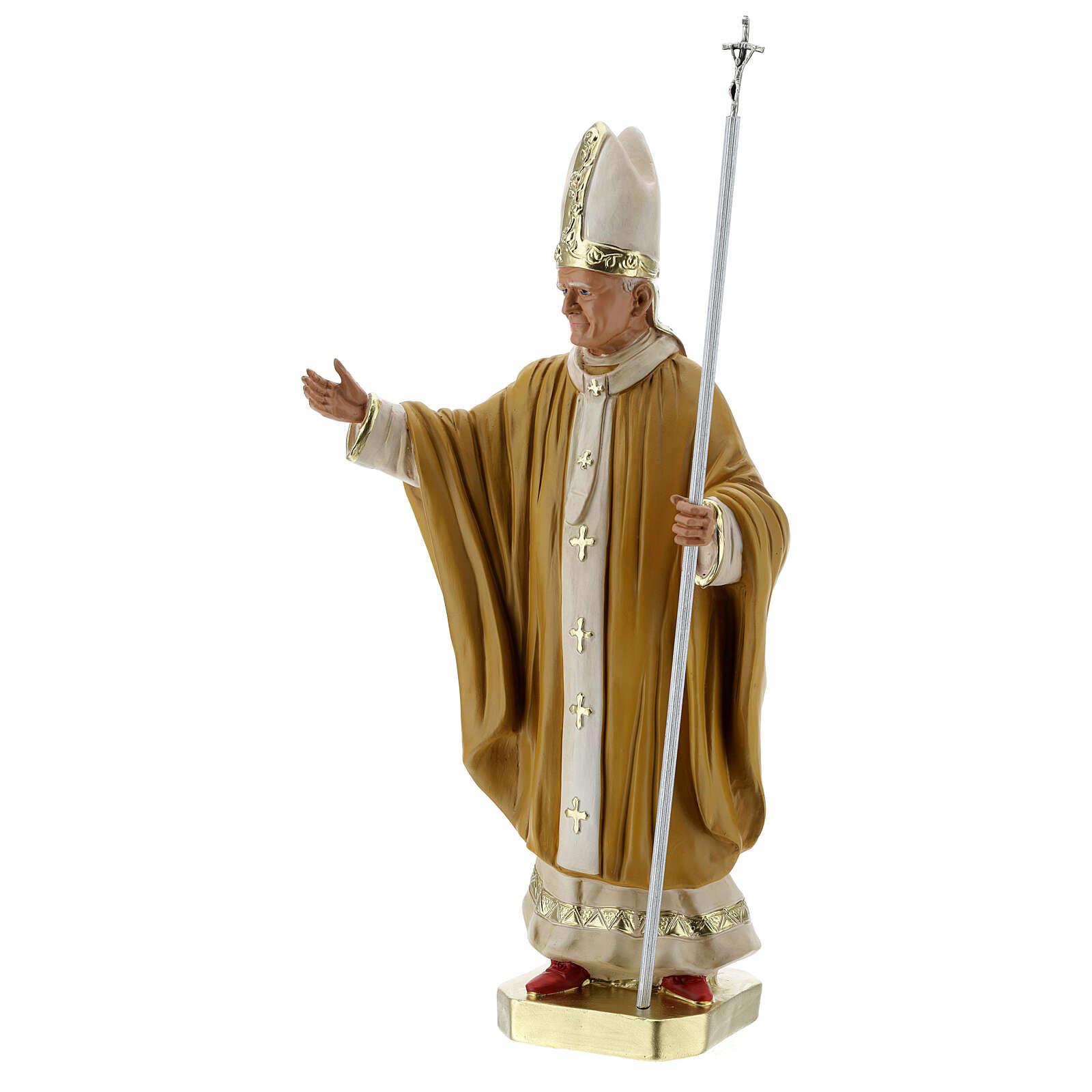 Pope John Paul II 40 cm plaster statue hand painted Arte Barsanti 4