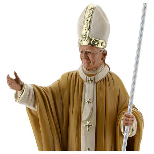 Papa Juan Pablo II 40 cm estatua yeso pintada a mano Barsanti 4