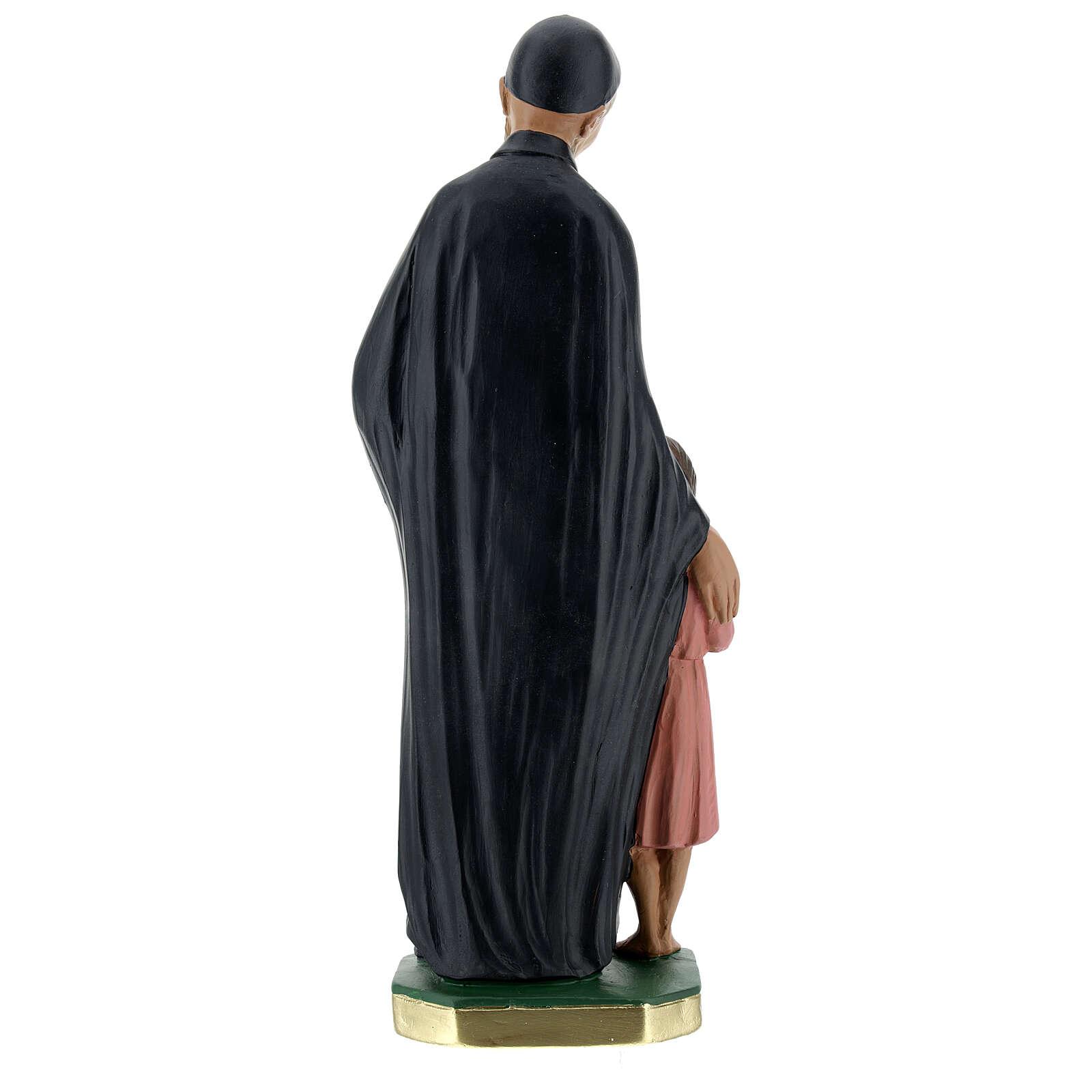Estatua San Vincenzo de Paoli 30 cm yeso pintado a mano Barsanti 4
