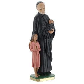 Estatua San Vincenzo de Paoli 30 cm yeso pintado a mano Barsanti s4