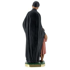 Estatua San Vincenzo de Paoli 30 cm yeso pintado a mano Barsanti s5