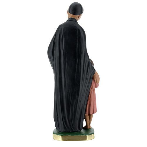 Estatua San Vincenzo de Paoli 30 cm yeso pintado a mano Barsanti 5