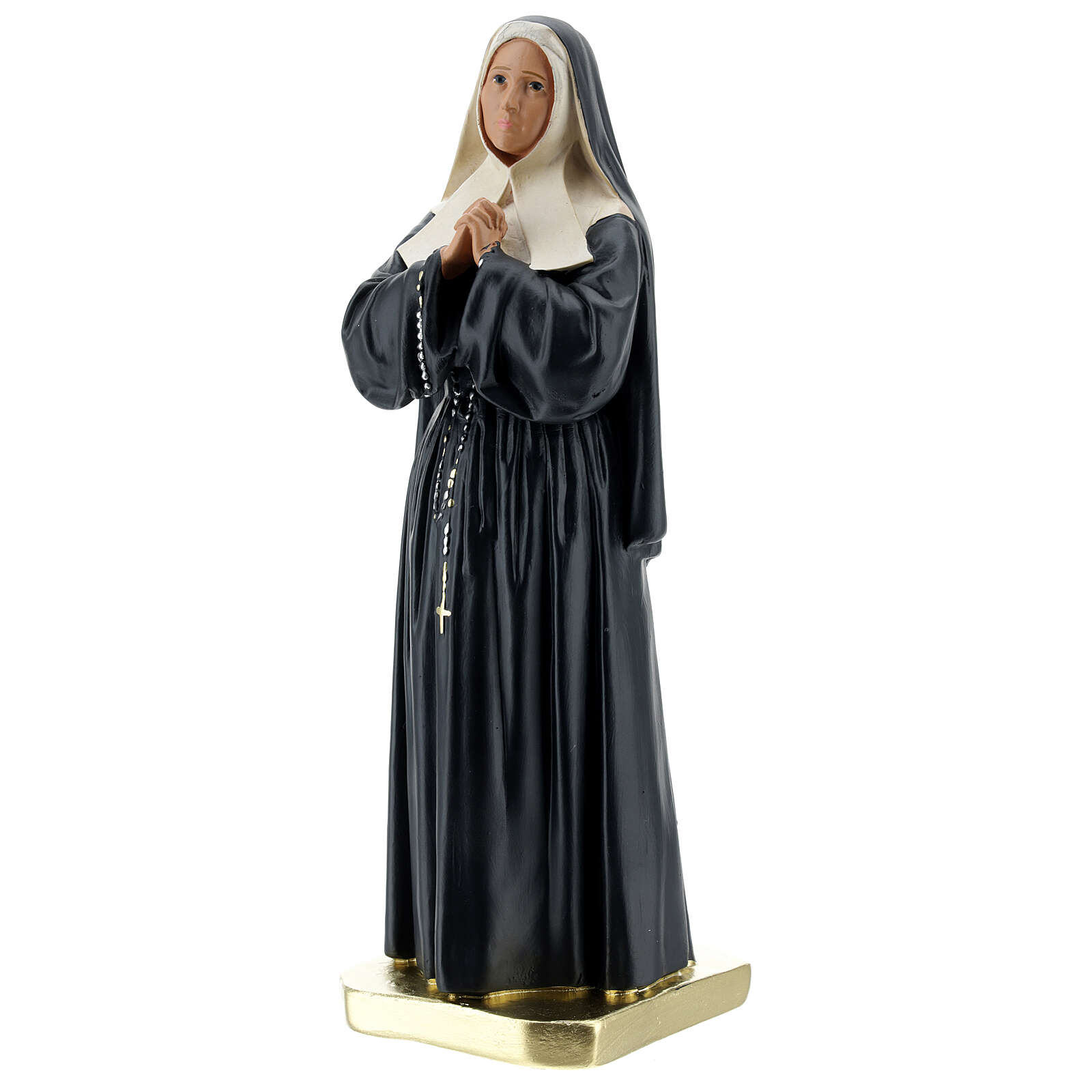 Sainte Bernadette Soubirous statue plâtre 30 cm Arte Barsanti 4
