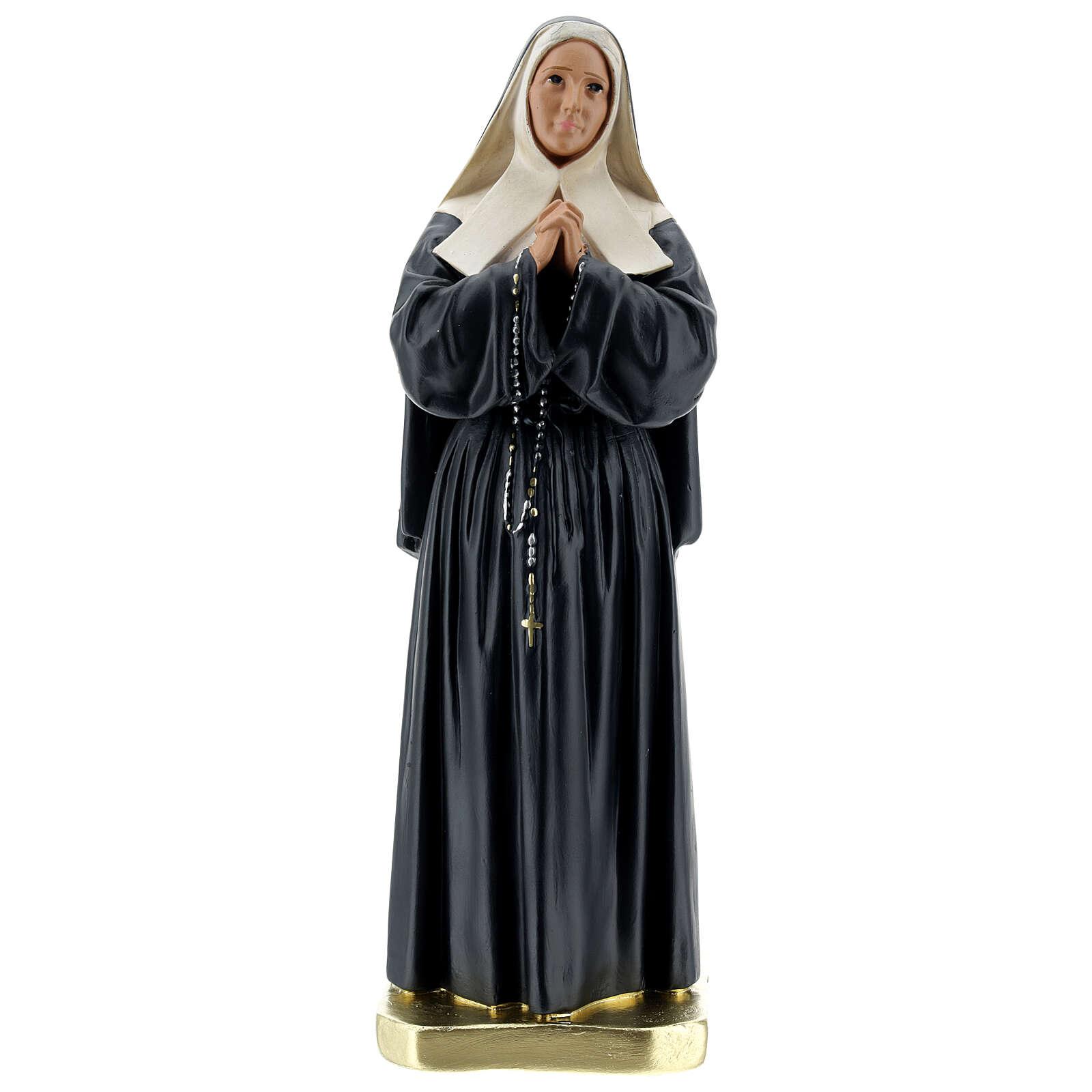 Santa Bernadetta Soubirous statua gesso 30 cm Arte Barsanti 4