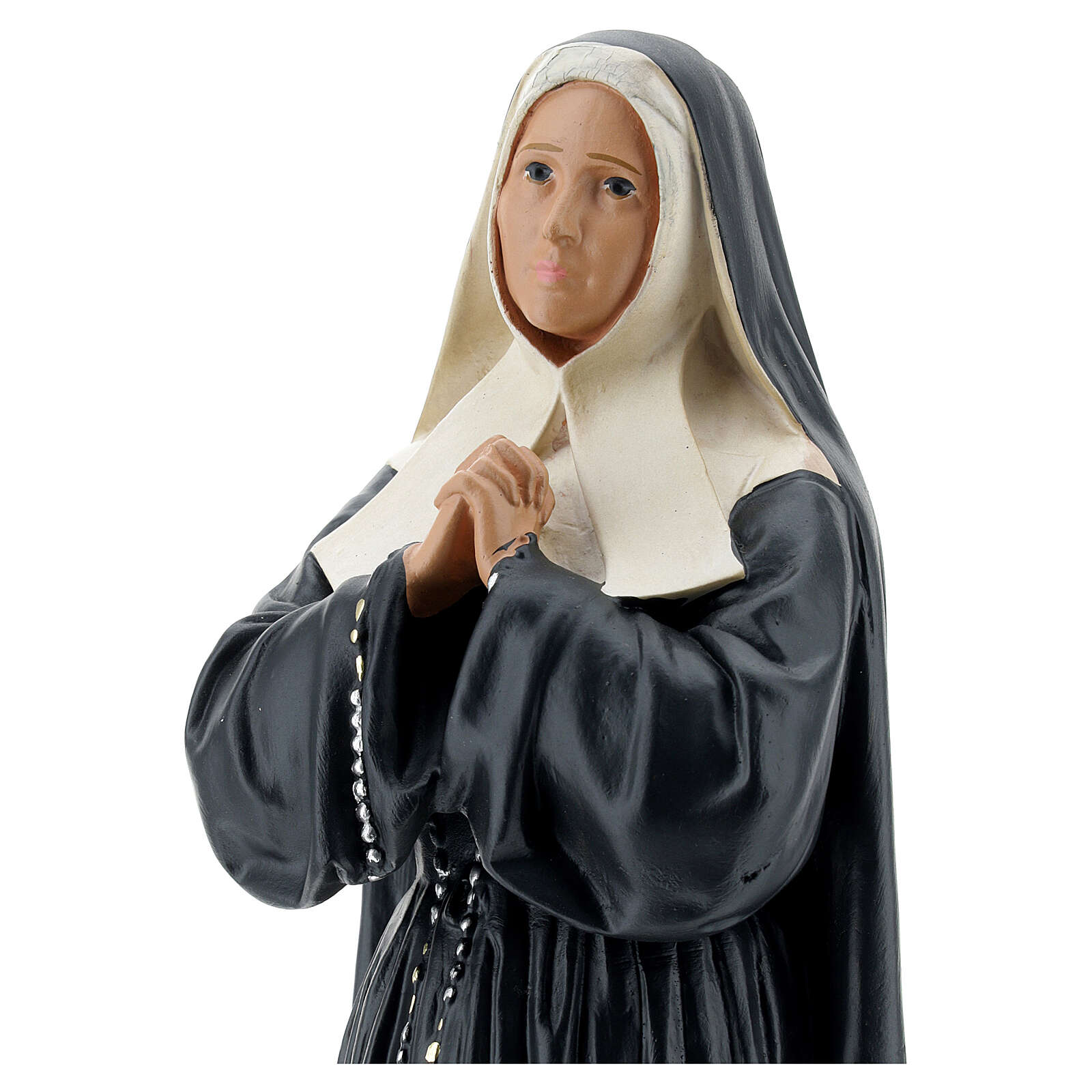 Saint Bernadette of Lourdes statue, 30 cm hand painted plaster Arte Barsanti 4