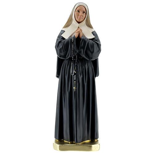 Saint Bernadette of Lourdes statue, 30 cm hand painted plaster Arte Barsanti 1