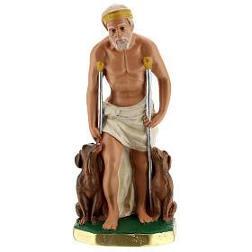 Saint Lazare statue plâtre 20 cm peint main Arte Barsanti s1