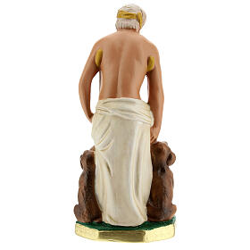 Saint Lazare statue plâtre 20 cm peint main Arte Barsanti s4
