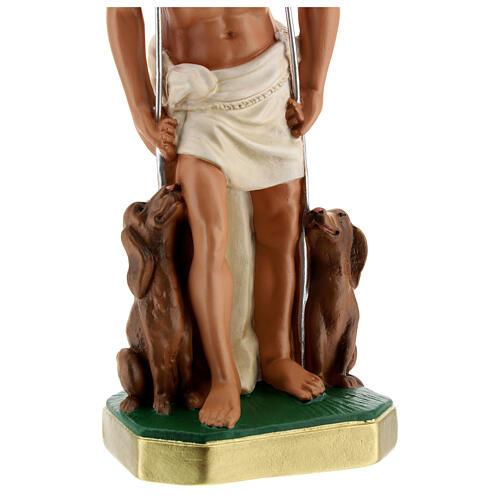 St. Lazarus hand painted plaster statue Arte Barsanti 30 cm 4