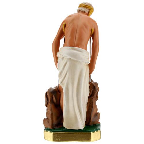 St. Lazarus hand painted plaster statue Arte Barsanti 30 cm 6