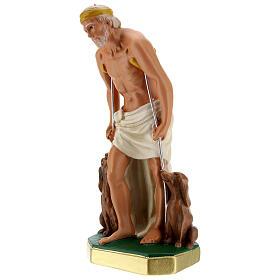 Statue Saint Lazare plâtre 30 cm peint main Arte Barsanti s3