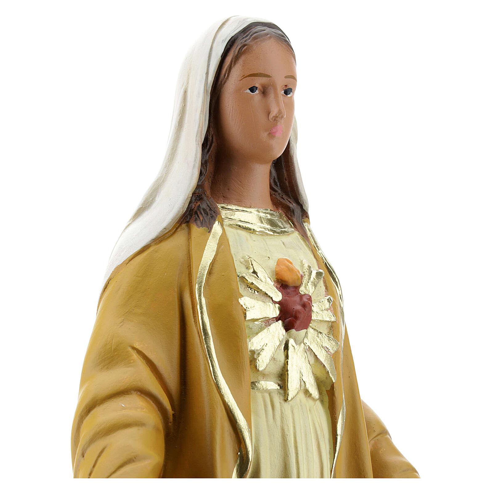 Madone du Magnificat 30 cm statue plâtre Arte Barsanti 4