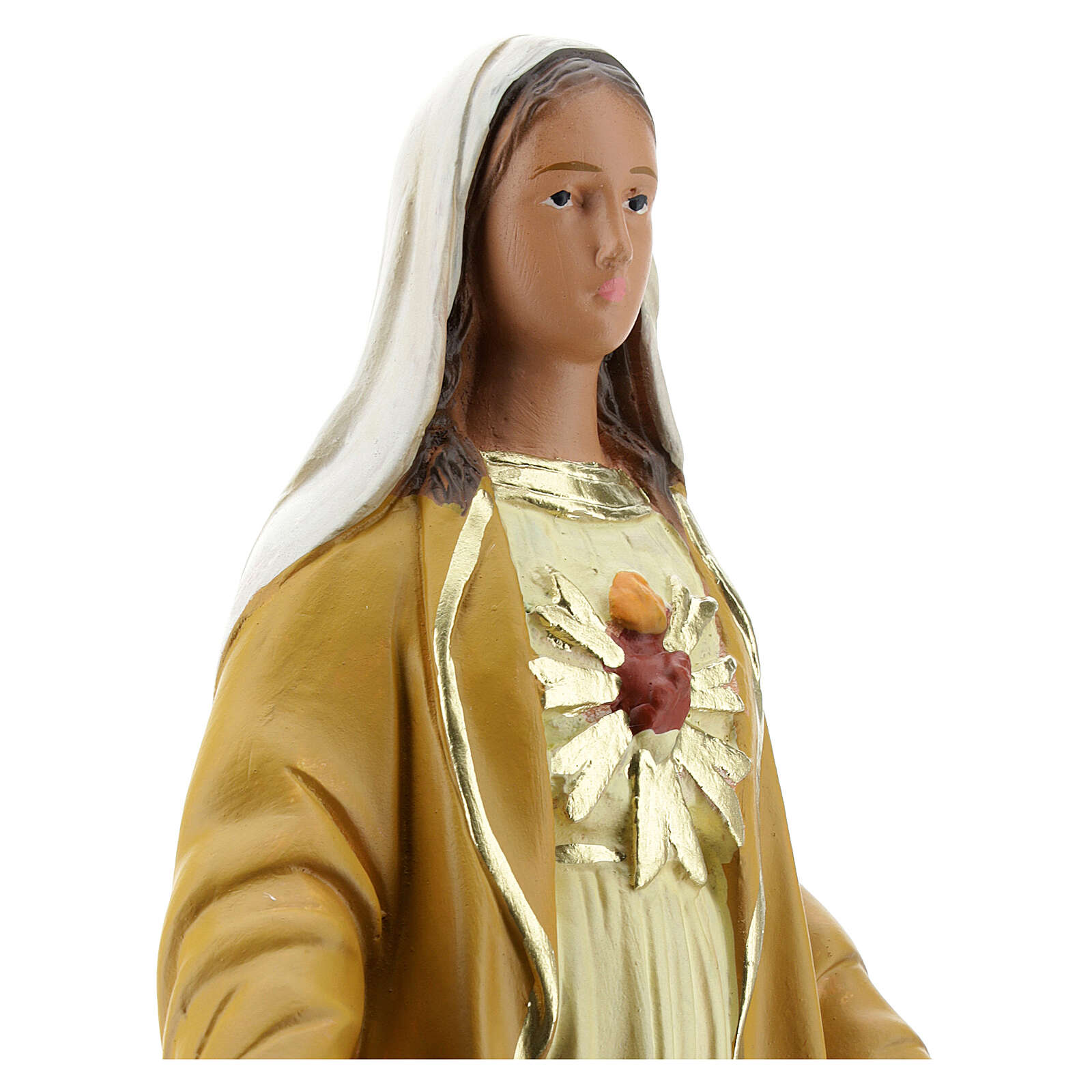 Madonna Magnificat 30 cm statua gesso Arte Barsanti 4