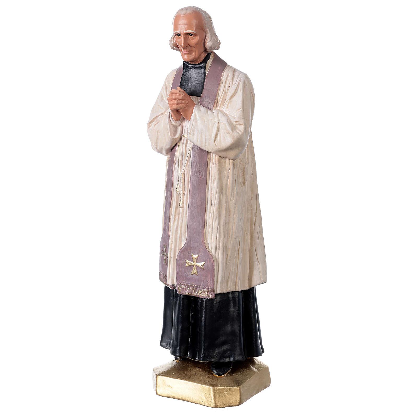 Saint Curé D'Ars statue 40 cm plâtre peint à la main Arte Barsanti 4