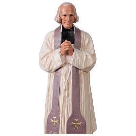 Saint Curé D'Ars statue 40 cm plâtre peint à la main Arte Barsanti s2