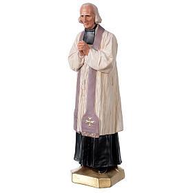 Saint Curé D'Ars statue 40 cm plâtre peint à la main Arte Barsanti s3