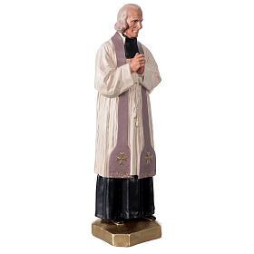 Saint Curé D'Ars statue 40 cm plâtre peint à la main Arte Barsanti s4