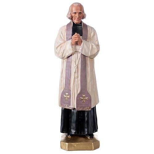 Saint Curé D'Ars statue 40 cm plâtre peint à la main Arte Barsanti 1