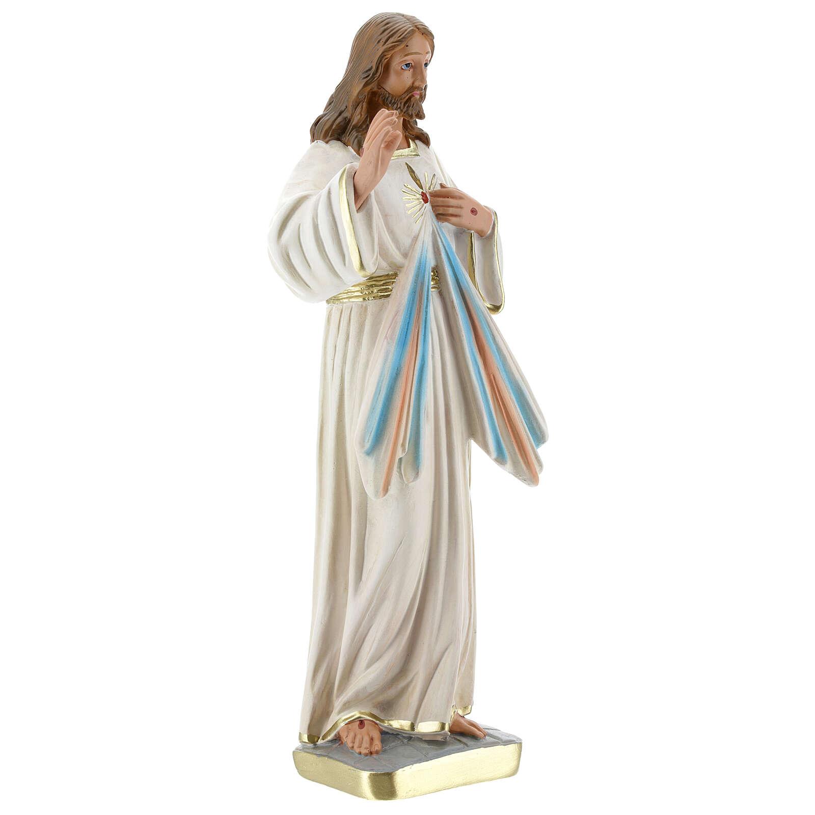 Jesús Misericordioso estatua yeso 30 cm Arte Barsanti 4