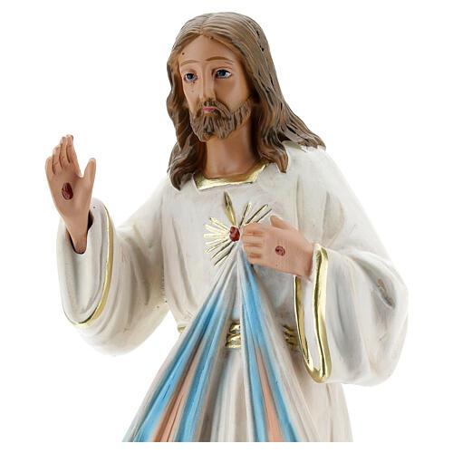 Jesús Misericordioso estatua yeso 30 cm Arte Barsanti 2