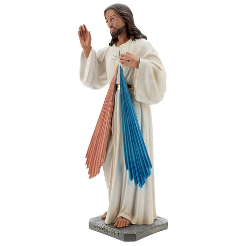 Statua Gesù Misericordioso resina 60 cm dipinta a mano Arte Barsanti 3