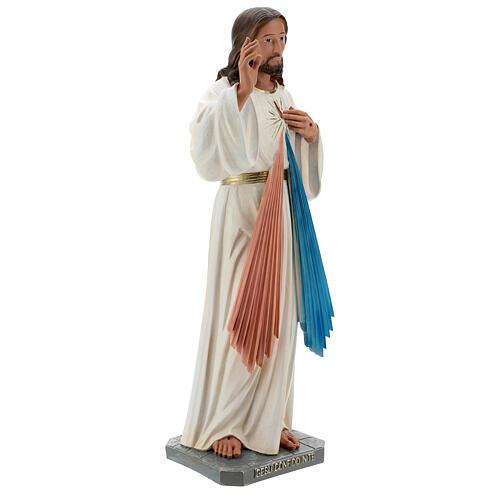 Statua Gesù Misericordioso resina 60 cm dipinta a mano Arte Barsanti 5