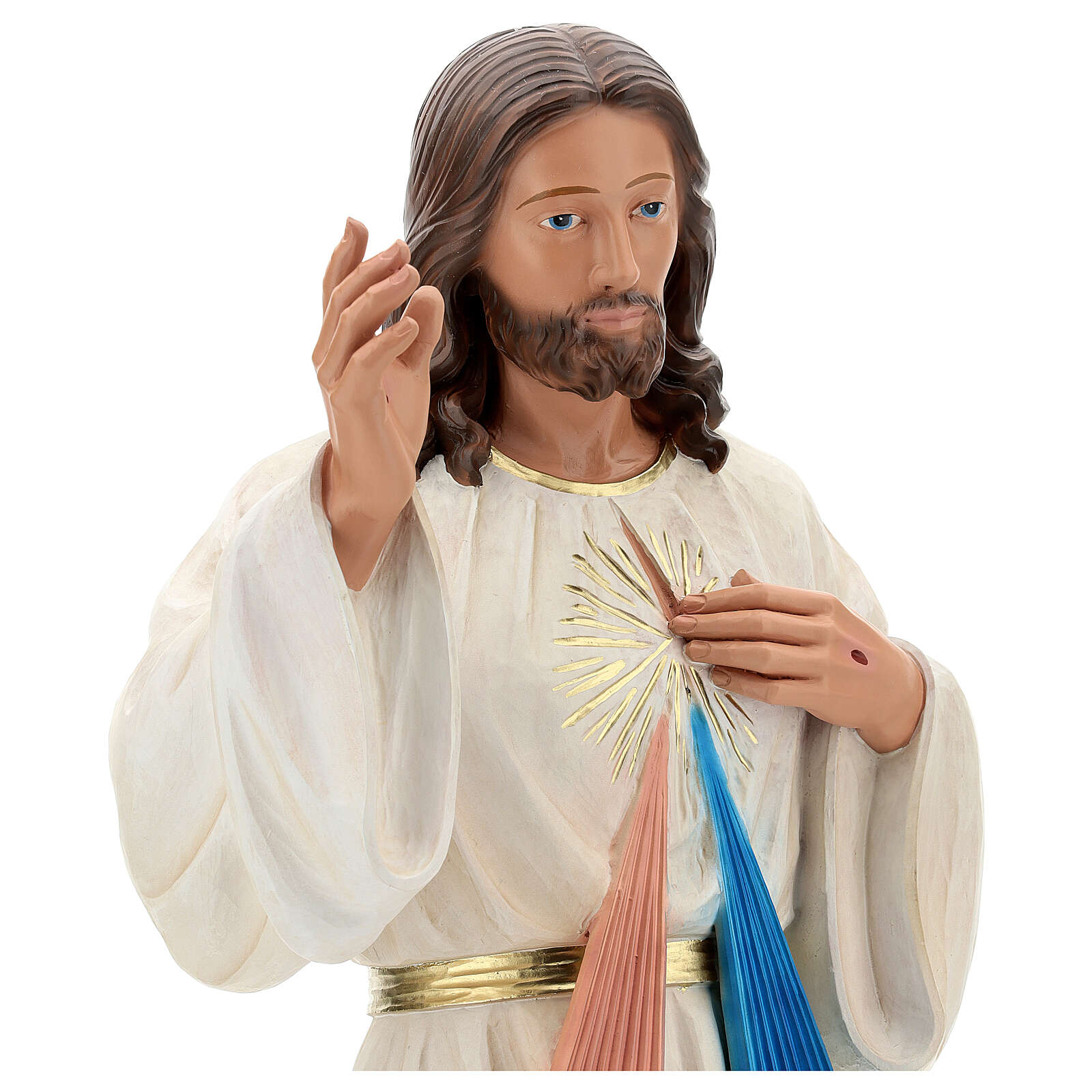 Gesù Misericordioso statua resina 80 cm dipinta a mano Arte Barsanti 4