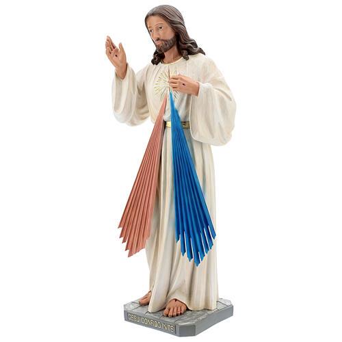 Gesù Misericordioso statua resina 80 cm dipinta a mano Arte Barsanti 3
