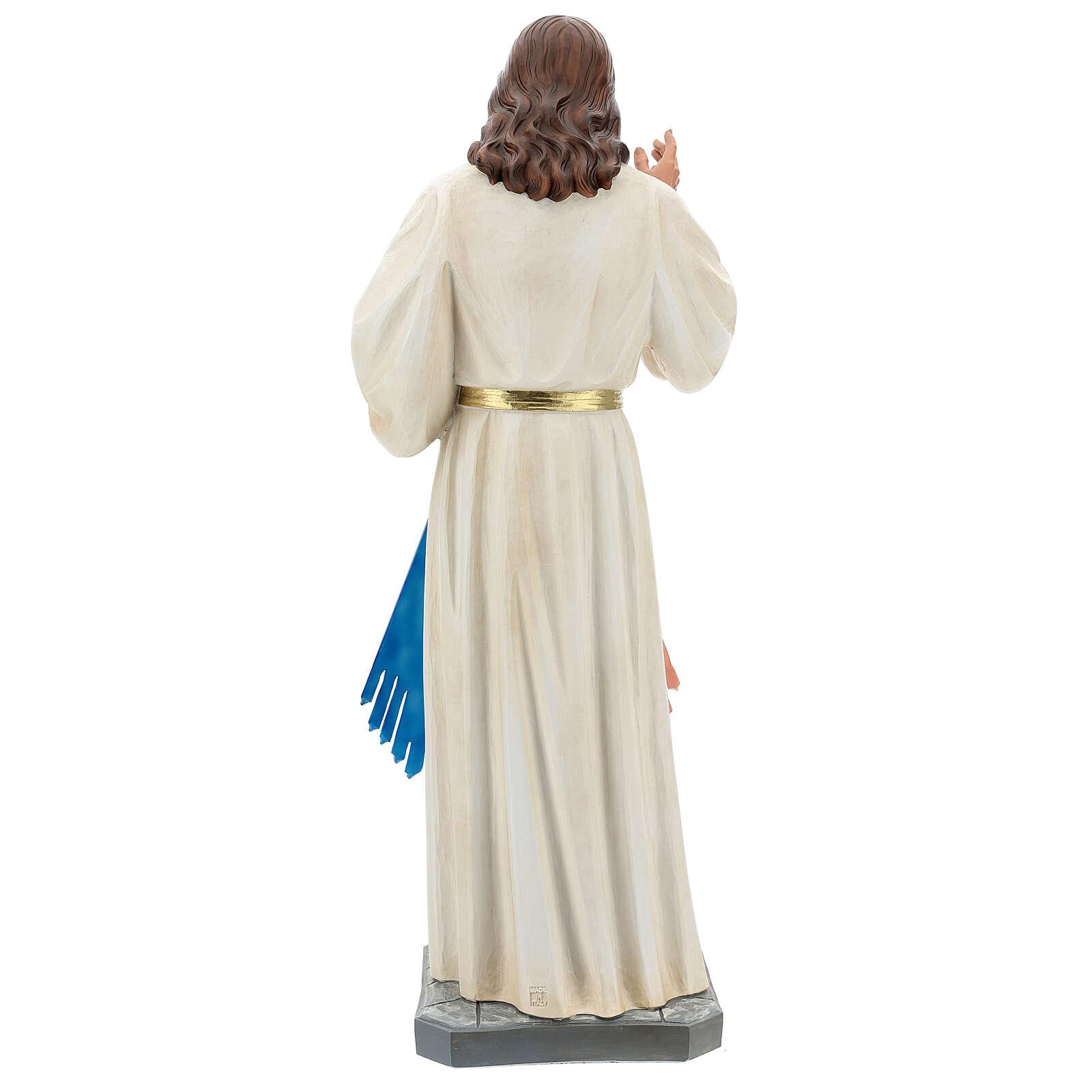 Jesus Misericordioso imagem resina 80 cm pintada à mão Arte Barsanti 4
