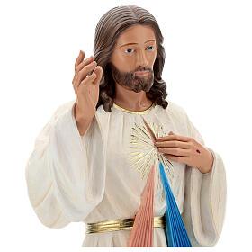 Jesus Misericordioso imagem resina 80 cm pintada à mão Arte Barsanti s2