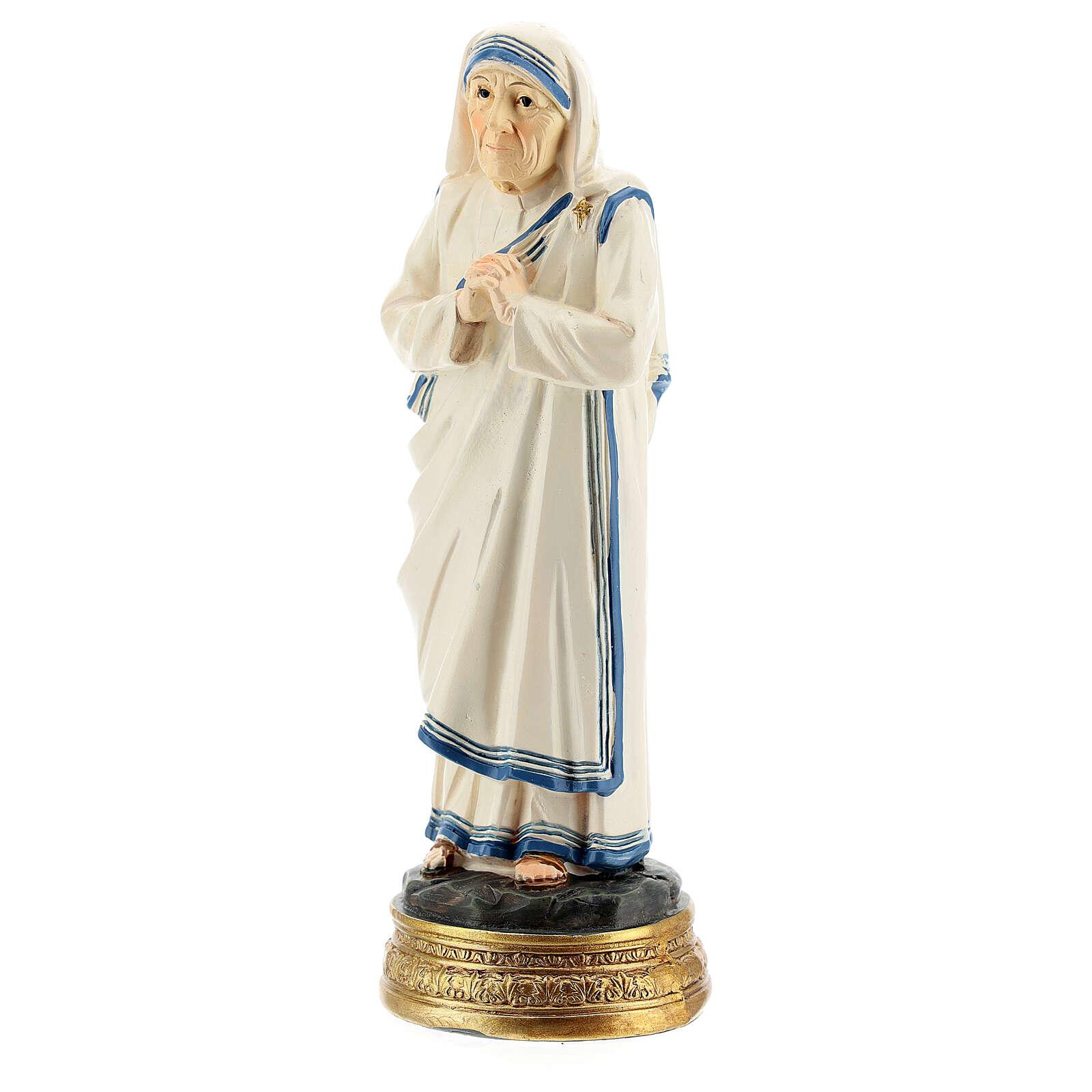 Estatua Madre Teresa Calcuta manos juntas resina 12,5 cm 4