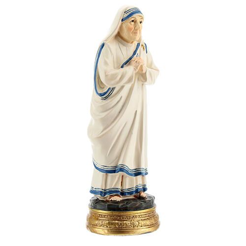 Statue Mère Teresa mains jointes résine 12,5 cm 3