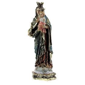 Estatua María Auxiliadora cetro vestidos decorados resina 13,5 cm s2