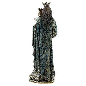 Statue Marie Auxiliatrice sceptre robe décorée résine 13,5 cm s4