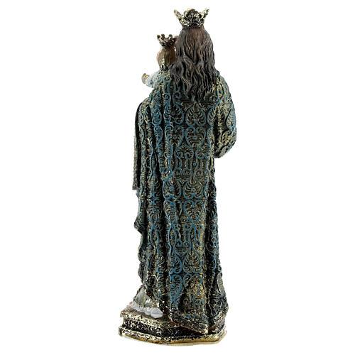 Statue Marie Auxiliatrice sceptre robe décorée résine 13,5 cm 4