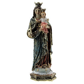 Our Lady of Perpetual Help statue, scepter decorated robes in resin 13.5 cm s1