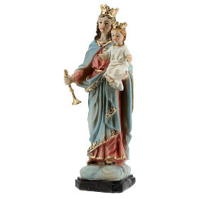 Our Lady of Good Help statue with Child in resin 12 cm s2