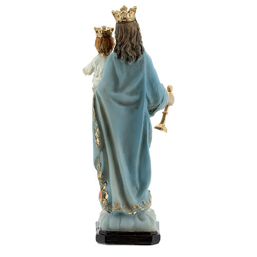 Our Lady of Good Help statue with Child in resin 12 cm 4