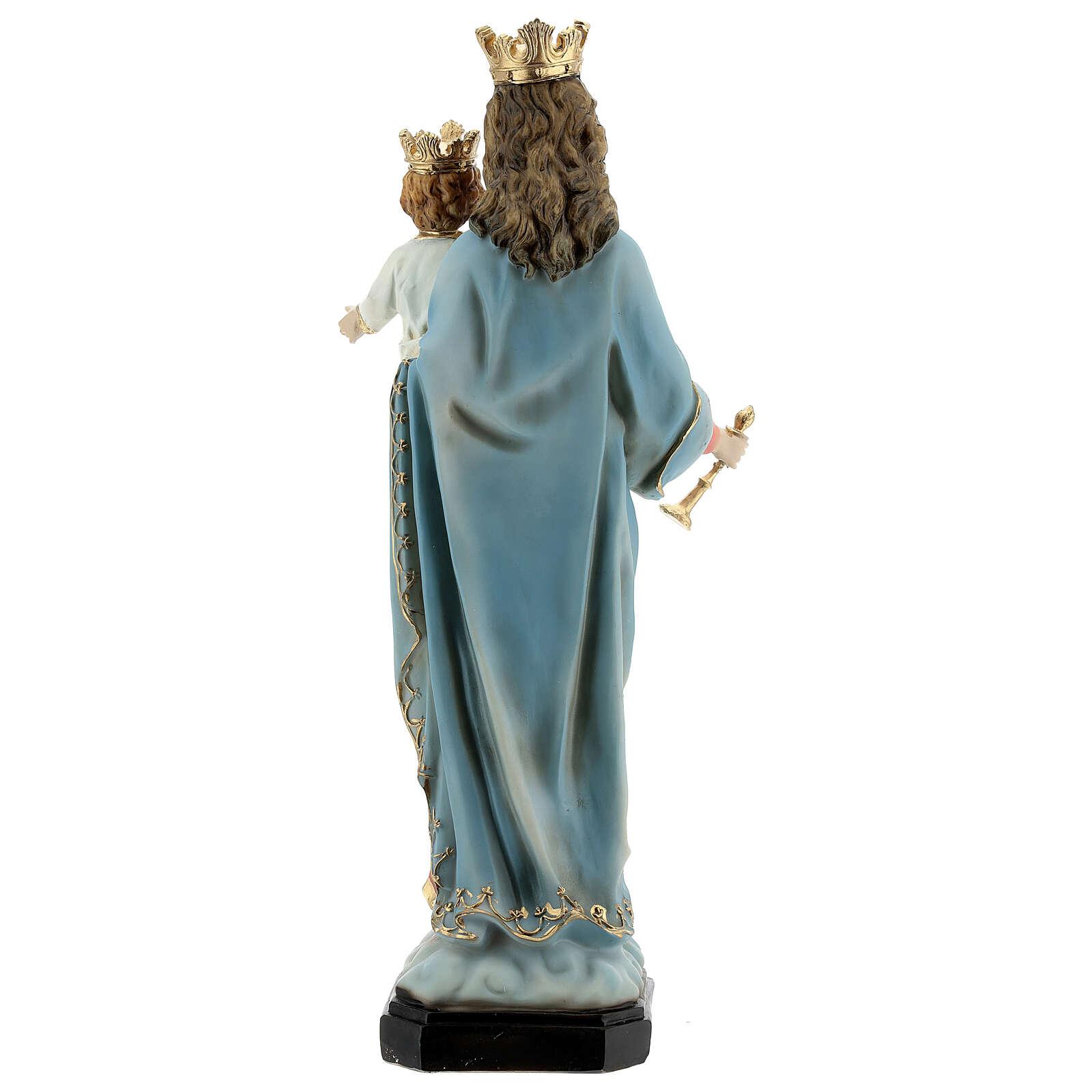 Estatua María Auxiliadora Niño cetro resina 30 cm 4