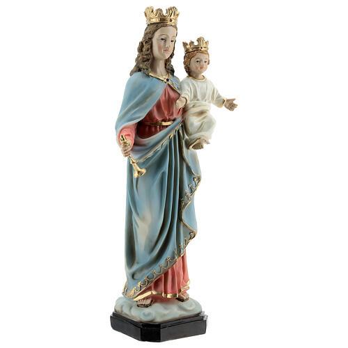 Statua Maria Ausiliatrice Bambino scettro resina 30 cm 4