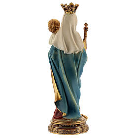 Mary Help of Christians with Child statue sphere resin 14.5 cm s4